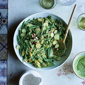 mkgalleryamp; Wine: Haricots Verts and Potato Salad with Pesto