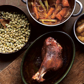 mkgalleryamp; Wine: Roast Leg of Lamb with Broad Beans