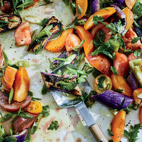Food & Wine: Grilled Eggplant, Apricot and Tomato Salad
