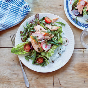 Food & Wine: Smoked Salmon Salad with Dill Sauce