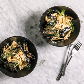 Food & Wine: Fennel-and-Mussels Alfredo