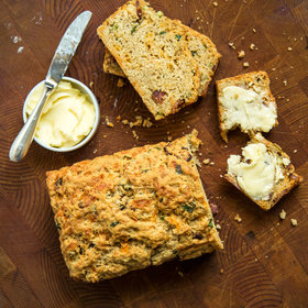 mkgalleryamp; Wine: Beer Bread with Brown Ale, Cheddar and Bacon