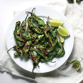 Food & Wine: Charred Shishito Peppers with Furikake