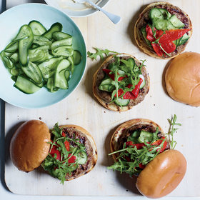 Food & Wine: Lamb Burgers with Onion Soup Aioli