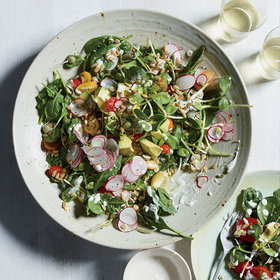 Food & Wine: Spinach-Sprout Salad with Coconut Ranch