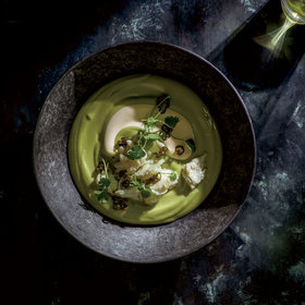 Food & Wine: Chilled Avocado Soup with Crab