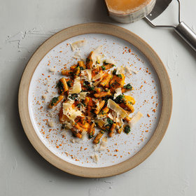 Food & Wine: Carrot Juice Cavatelli, Tops Salsa & Spiced Pulp Crumble