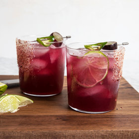 Food & Wine: Black Grape And Chile Margarita