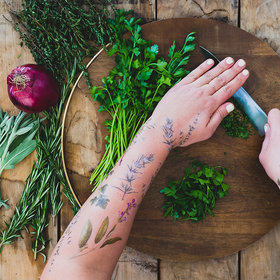 Food & Wine: These Temporary Tattoos Smell Like Spices