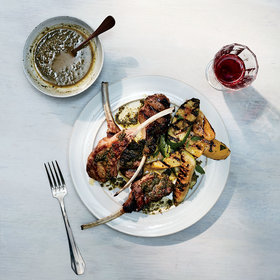 Food & Wine: Lamb Chops with Burnt-Bread Salsa Verde