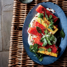 Food & Wine: Marinated Watermelon with Whipped Feta