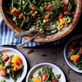 Food & Wine: Summer Bean Salad with Potlikker Vinaigrette