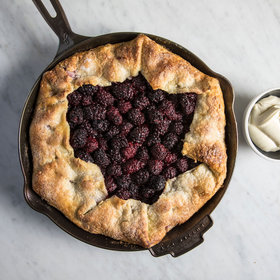 Food & Wine: Cast-Iron Blackberry Galette with Whipped Mascarpone
