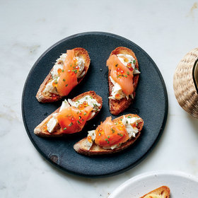 Food & Wine: Crab and Smoked Salmon Pintxos with Vanilla Oil