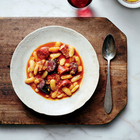 mkgalleryamp; Wine: Fabada (Spanish Bean Stew with Chorizo and Blood Sausage)