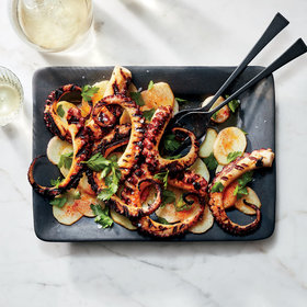 Food & Wine: Pulpo a la Gallega (Grilled Octopus with Potatoes)