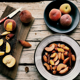 Food & Wine: Red Wine–Macerated Peaches