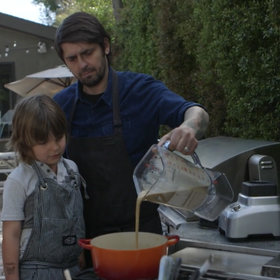 Food & Wine: Watch Ludo Lefebvre's (and His Adorable Son's) Easy, Spicy Grilled Pineapple