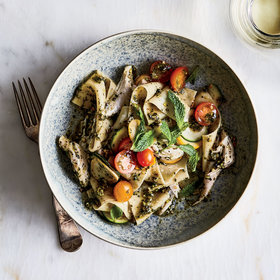Food & Wine: Pappardelle with Chicken and Pistachio-Mint Pesto