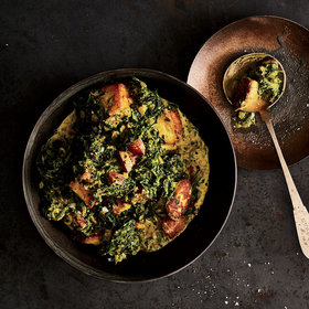 Food & Wine: Silky Spinach with Fresh Cheese