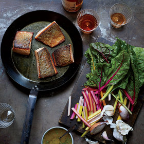 Food & Wine: Crispy Salmon and Wilted Chard