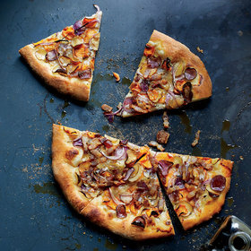 Food & Wine: Crispy Potato Tarte Flambée