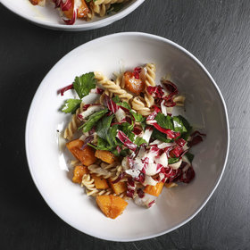 mkgalleryamp; Wine: Vinegar-Glazed Butternut Squash Pasta Salad