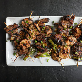 Food & Wine: Vinegar-Marinated Beef Yakitori