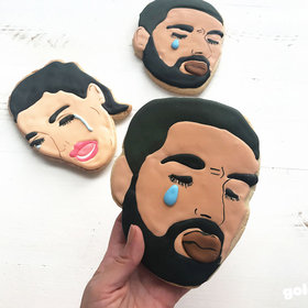 Food & Wine: This Bakery Will Make You a Crying Drake or Smiling Beyoncé Cookie