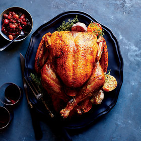 Food & Wine: Clementine-and-Garlic Roast Turkey