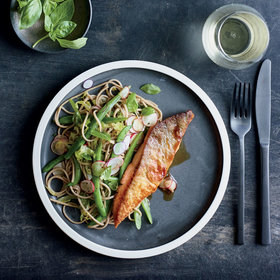 mkgalleryamp; Wine: Arctic Char with Soba 