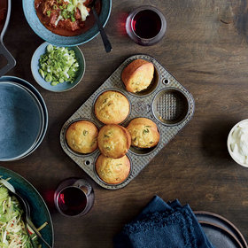 Food & Wine: Scallion-Corn Muffins