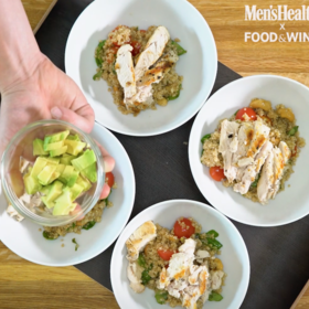 Food & Wine: Quick & Easy Dinner Idea: 4 Tasty Variations on a Healthy Grilled Chicken Quinoa Bowl
