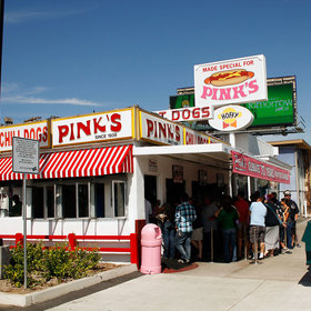 Food & Wine: Famous L.A. Hot Dog Stand 'Pink's' Going Blue for Dodgers' World Series Run