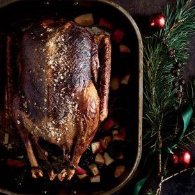 mkgalleryamp; Wine: Goose Stuffed with Apples and Armagnac-Soaked Prunes