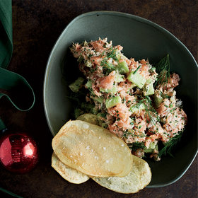 Food & Wine: Herbed Salmon Tartare with Chips