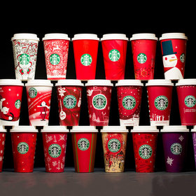 mkgalleryamp; Wine: 20 Years of Starbucks Holiday Cups