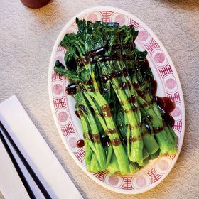 mkgalleryamp; Wine: Chinese Greens with Oyster Sauce