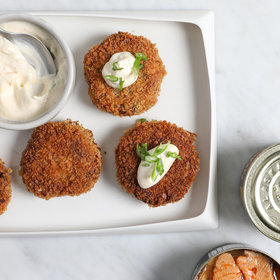 Food & Wine: Spicy Chipotle Salmon Cakes with Lemon Mayonnaise