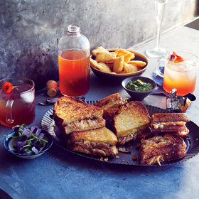 mkgalleryamp; Wine: Carnitas and Chutney Grilled Cheese Sandwich