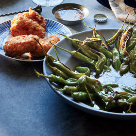 Food & Wine: Charred Shishito Peppers with Garlic-Herb Oil