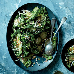 Food & Wine: Spinach Salad with Ginger-Soy Dressing