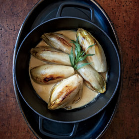 Food & Wine: Braised Endive in Cream Sauce