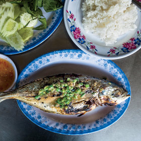 Food & Wine: Grilled Mackerel with Garlic Dipping Sauce
