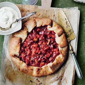 Food & Wine: Rhubarb and Candied Ginger Crostata