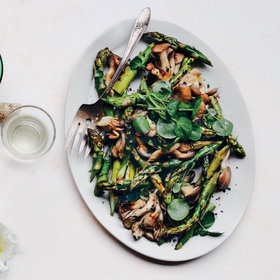 Food & Wine: Roasted Asparagus and Mushrooms