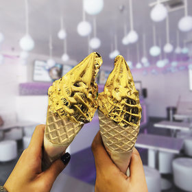 Food & Wine: Get This 24 Karat Gold Ice Cream Within Walking Distance of Disneyland