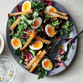 mkgalleryamp; Wine: Bitter Greens with Soft-Boiled Eggs