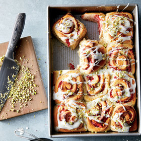 mkgalleryamp; Wine: Strawberry-Pistachio Sweet Rolls
