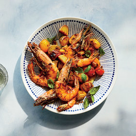 Food & Wine: Shrimp with Potatoes and Tomatoes